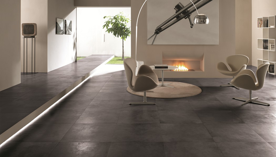 carrelage contemporain b ton cir sable pictures to pin on pinterest. Black Bedroom Furniture Sets. Home Design Ideas