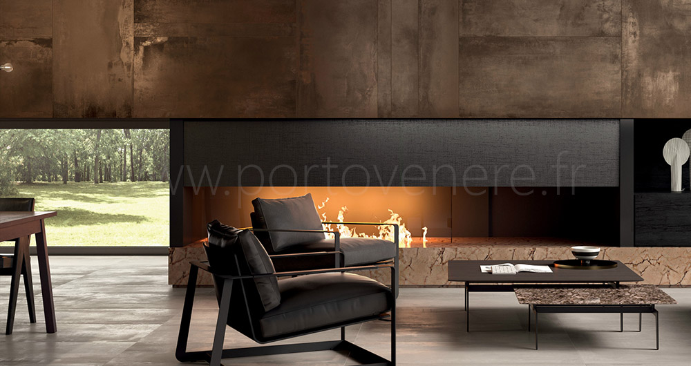 le carrelage aspect m tal en gr s c rame porto venere. Black Bedroom Furniture Sets. Home Design Ideas