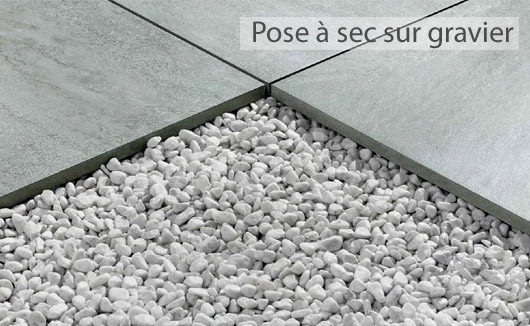 Dalles ext rieures 20mm gr s c rame pour pose sur plots for Pose carrelage sur lit de sable