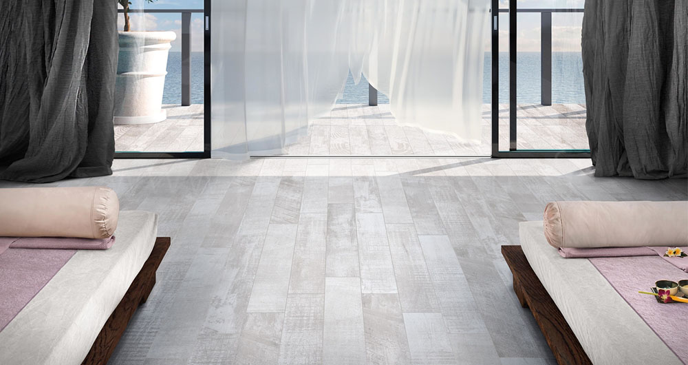 Stunning fujiyama ivory with carrelage imitation parquet blanc for Carrelage imitation bois blanc