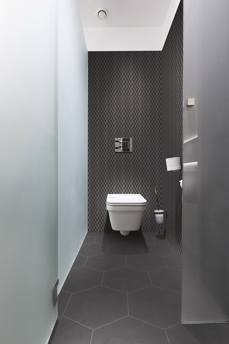 Carrelage ciment pas cher maison design for Carrelage wc gris