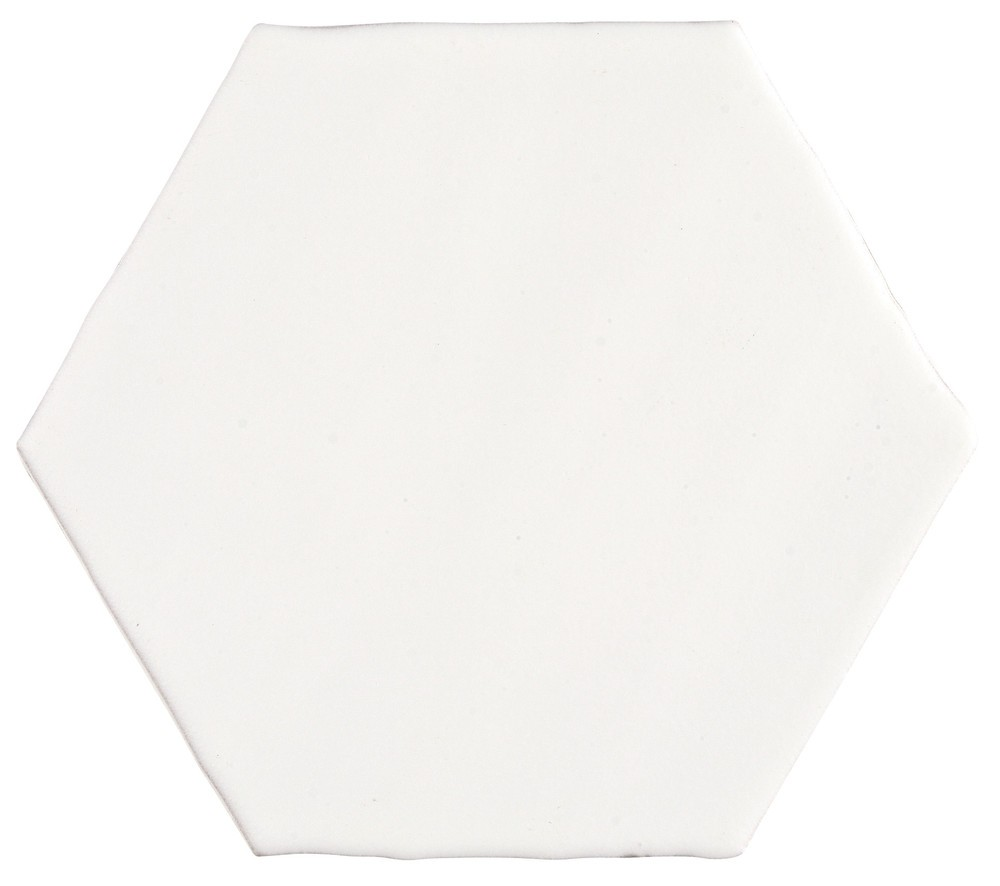 Carrelage artisanal aspect carreau ciment marocco porto for Carrelage blanc hexagonal