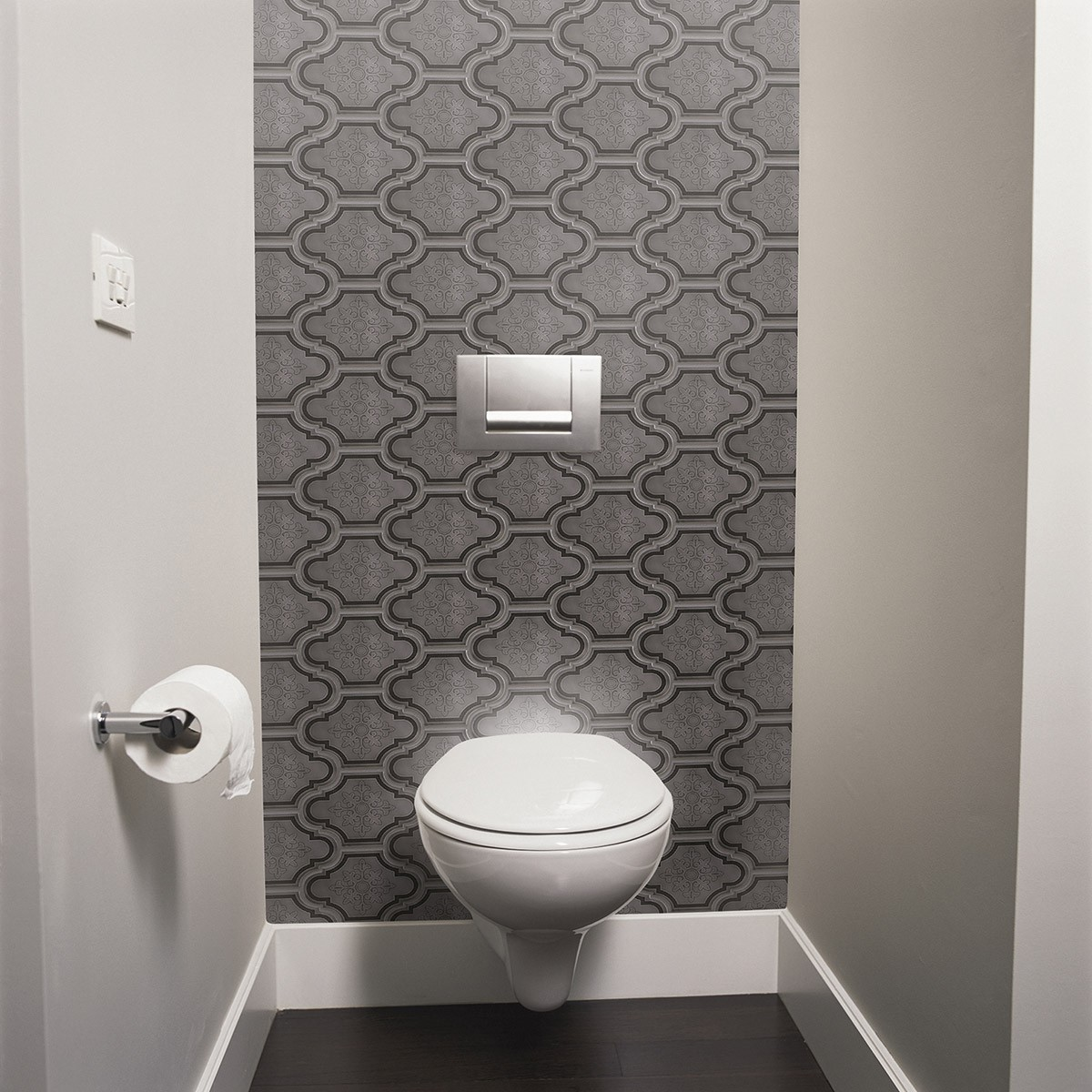 Carrelage metro toilette free carrelage metro leroy for Carrelage wc gris