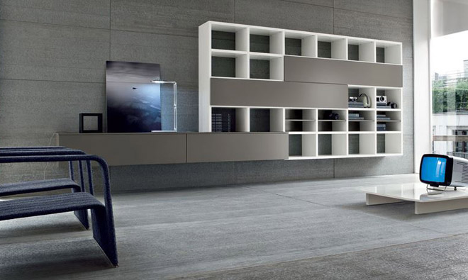 biblioth que speed suspendue composition 4 porto venere. Black Bedroom Furniture Sets. Home Design Ideas