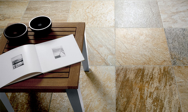 Carrelage aspect pierre quartz himmalaya gold porto venere for Carrelage quartzite