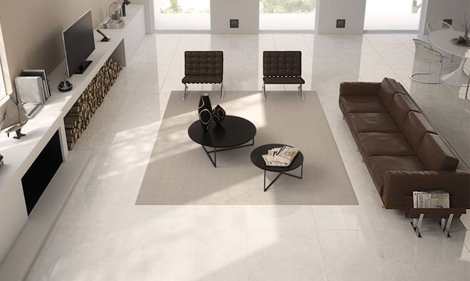 Carrelage contemporain studio blanc porto venere for Carrelage 80x80 blanc