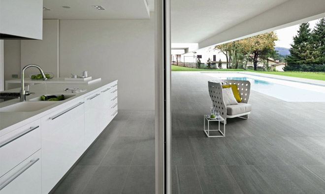 Carrelage contemporain mati res design tecno grigio for Decoration carrelage cuisine