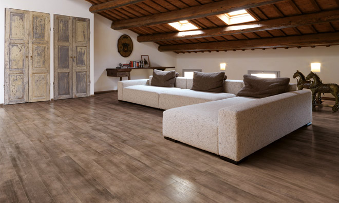 carrelage imitation parquet bois les planchers c rus marron. Black Bedroom Furniture Sets. Home Design Ideas