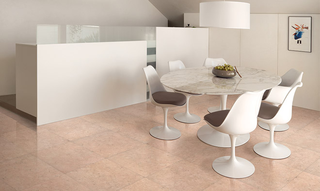 Carrelage aspect marbre nu marble rosa perlino for Carrelage rose