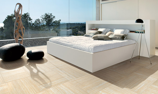 carrelage aspect marbre nu travertine cream infalda. Black Bedroom Furniture Sets. Home Design Ideas