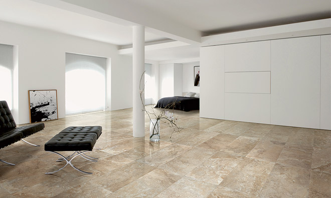 carrelage aspect marbre nu travertine walnut controfalda. Black Bedroom Furniture Sets. Home Design Ideas