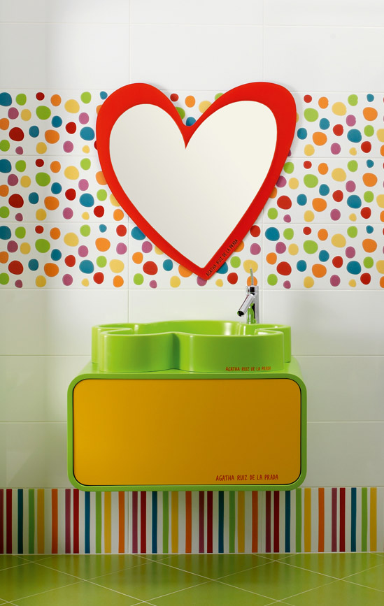 carrelage de salle de bain agatha ruiz de la prada party. Black Bedroom Furniture Sets. Home Design Ideas