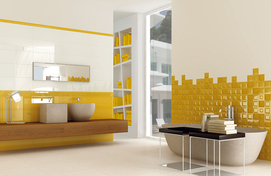 carrelage de salle de bain gotha yellow porto venere. Black Bedroom Furniture Sets. Home Design Ideas