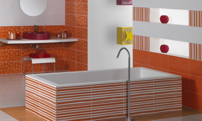 carrelage de salle de bain agatha ruiz de la prada naranja porto venere. Black Bedroom Furniture Sets. Home Design Ideas