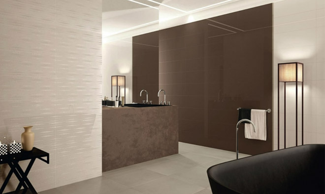 carrelage de salle de bain miroir vison et nature jacquard porto venere. Black Bedroom Furniture Sets. Home Design Ideas