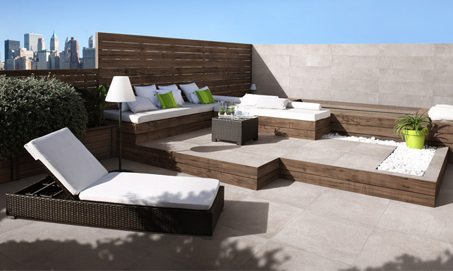 carrelage terrasse ext rieure urban nature cement. Black Bedroom Furniture Sets. Home Design Ideas
