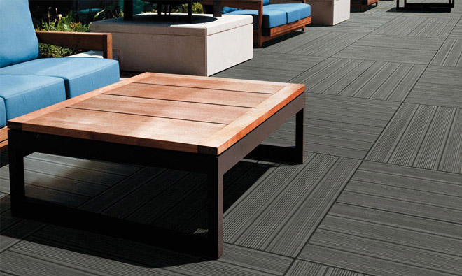 Carrelage terrasse pont de bateau outside anthracite for Carrelage gris anthracite