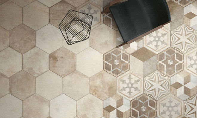 Carrelage traditionnel heritage deco texture 6 porto venere for Carrelage hexagonal marbre
