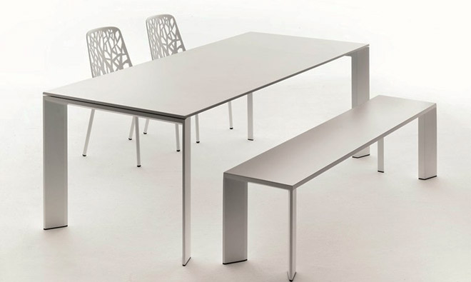 Table int rieure ext rieure fast grande arche en aluminium for Table exterieur rallonge aluminium