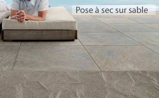 Pose dalle sur sable dallage ext rieur in situ imitation gr s ou granite poser des dalles sur - Carrelage exterieur sur lit de sable ...