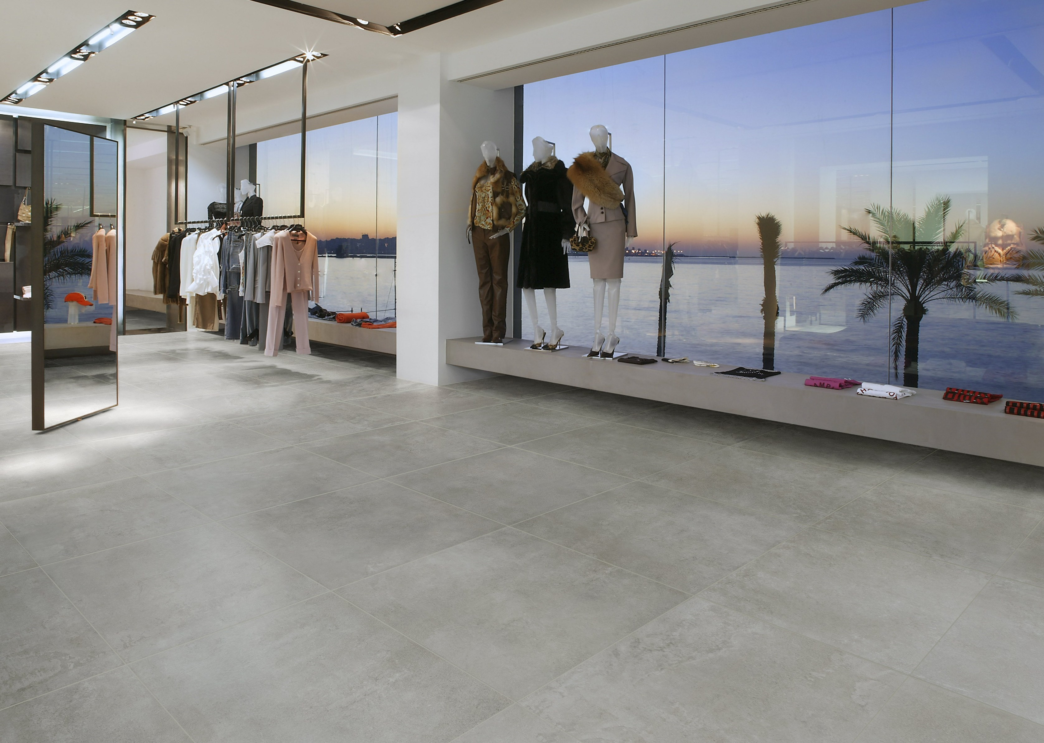 Carrelage contemporain aspect b ton urban life porto venere for Carrelage 90x90 beige