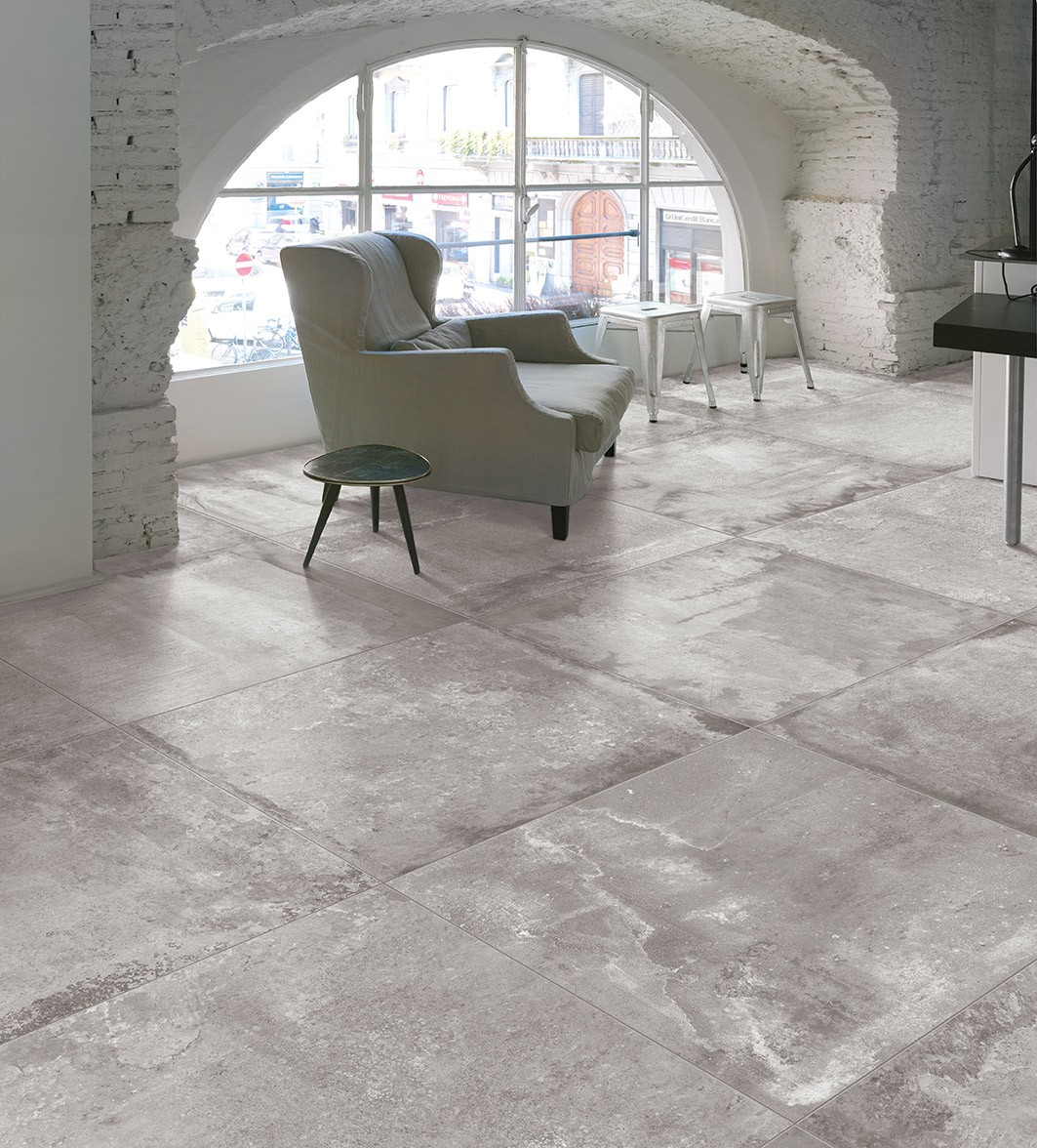 Carrelage nuanc aspect us style loft equation porto venere for Carrelage vieilli