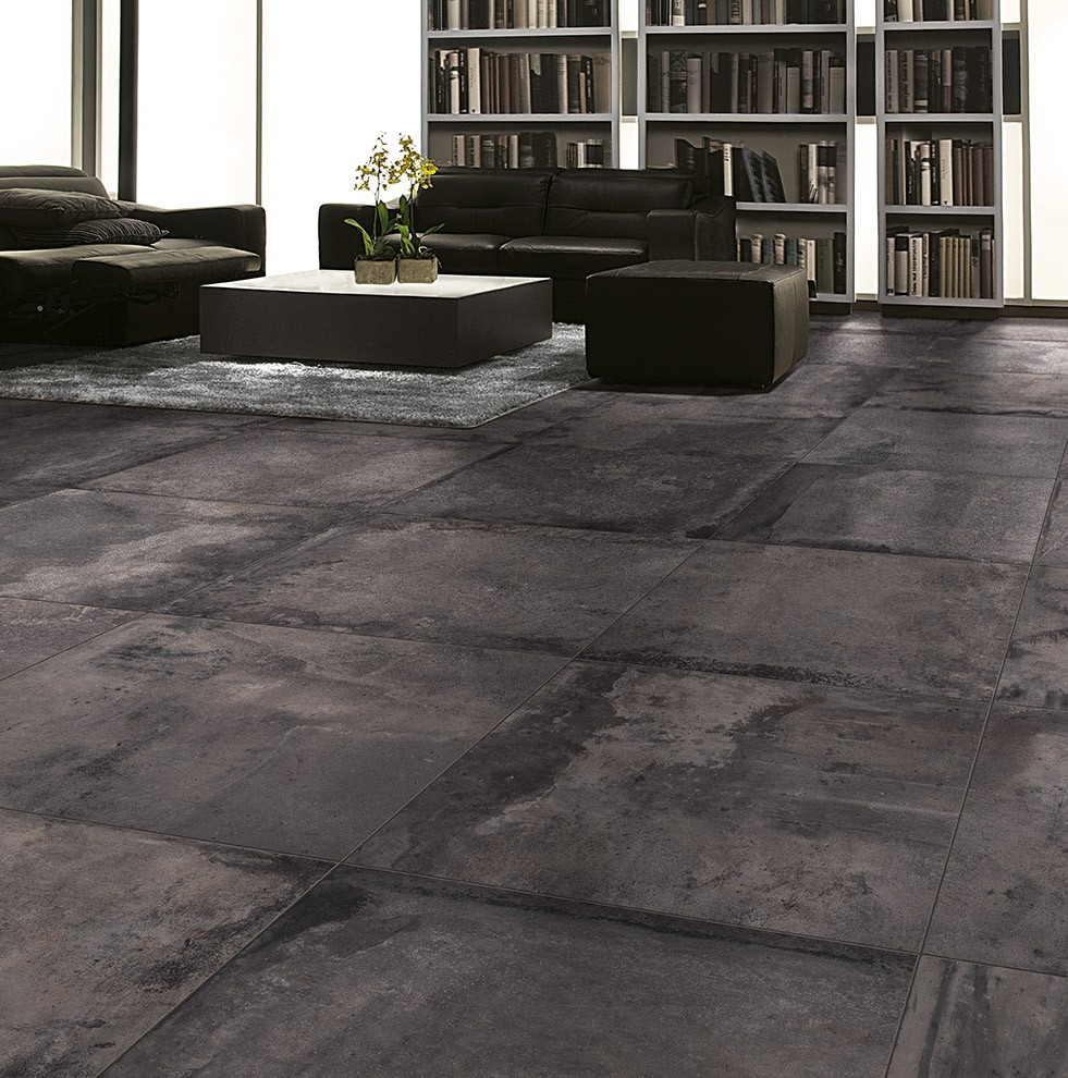 Carrelage nuanc aspect us style loft equation porto venere for Carrelage 80x80 gris